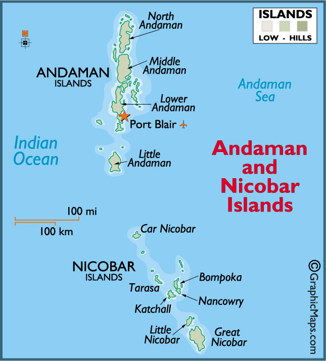 The Andaman Islands Map